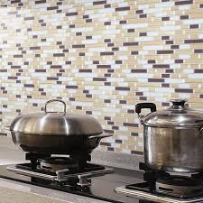 Wall Tile For Kitchen Back Splashes 6 Sheets Peel Stick Wall Tile For Kitchen Backsplashes