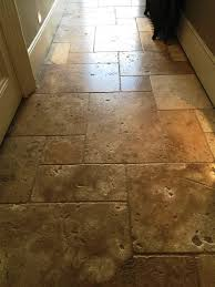 honed travertine kensington after cleaning