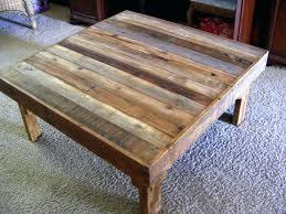 square rustic coffee table making