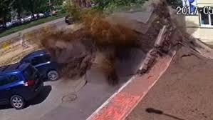 underground water pipe explodes in ukraine underground i64