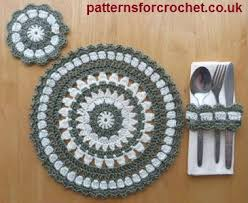 Free Crochet Placemat Patterns Fascinating Free Crochet Pattern Round Placemat Coaster Napkin Ring