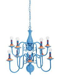 funky cool blue chandelier