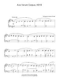 ave verum corpus sheet music ave verum corpus k618 sheet music direct