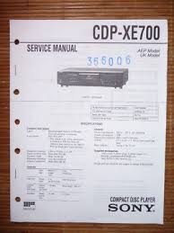 original sony service manual for the cdx 5 cd player • 14 98 service manual sony cdp xe700 cd player original