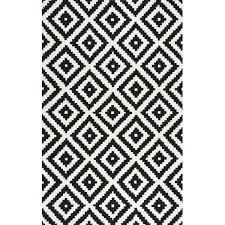 black and white area rugs mercury row hand tufted wool black area rug reviews black and black and white area rugs