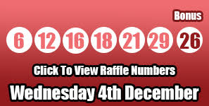 Lotto Raffle Results Looking For The Full List Of Lotto Raffle