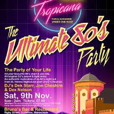 80s Pop Charts Club Tropicana 80s Tickets Brunos Bar St Helens Sat