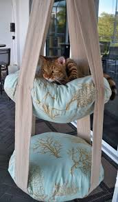 epic two level c hanging cat bed