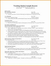 Resume Template For Teachers Lovely Student Teacher Resume Examples