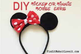 diy mickey or minnie mouse ears 16