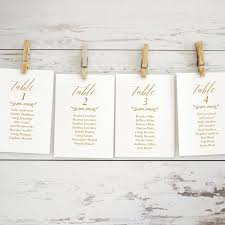 Seating Chart Template Gold Wedding Seating Chart Template Editable Seating Chart