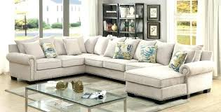 sectional sofa with nailhead trim sectional sofa furniture of 3 ivory fabric sectional sofa with nail