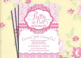 pink birthday invitation diy printable vine pretty in pink birthday party invitation or