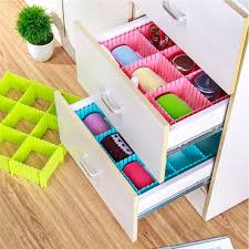 details about 4pcs set diy thickened grid drawer divider plate makeup sock underwear organizer