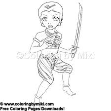 Anime Girl Martial Arts Warrior Coloring Page 1045 Coloring By Miki