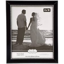 special moments black plastic frames with silver beaded inner edge 8x10 in