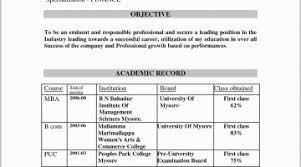 Resume Headline Examples For Mba Fresher Resume For Freshers Mba 30