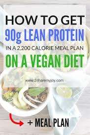 High Protein Vegan Meal Plan 2 200 Calories High Protein