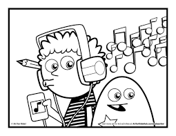 Music Coloring Pages Printable Refrence For Kids Bitsliceme