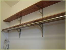 image of wooden closet rod bracket hanger hardware