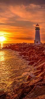 Lighthouse Sunrise And Sunset 4k Iphone ...