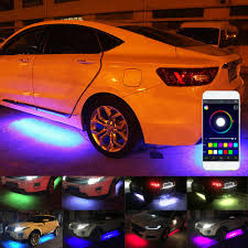 Lights Under Car Illegal Details About 4x Rgb Led Car Pickup Tube Strip Under Glow Body Neon Lights Phone App Control