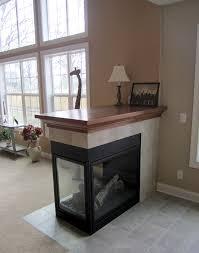 three sided gas fireplace ideas c c b07b2e5f1c