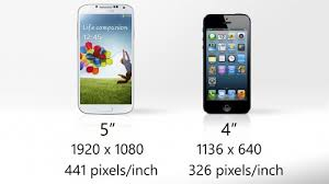 galaxy s4 screen size apple inc updates iphone 5 vs samsung galaxy s 4