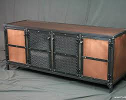industrial media furniture. copper media console credenza vintage industrial entertainment center sideboard furniture t