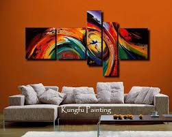 100 hand painted unframed abstract 5 panel canvas art living room wall decor painting modern on 4 piece canvas wall art with 100 hand painted unframed abstract 5 panel canvas art living room