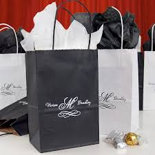 personalized wedding gift bags.  Gift Personalized Petite Kraft Goodie Bags Shown In Black And White Printed  With Special Instructions To Print And Wedding Gift Bags D