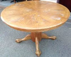 antique oak claw foot pedestal table round table antique oak round claw foot dining table lot
