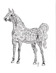 Make It Easy Crafts Free Printable Horse Coloring Page 3