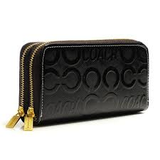 Coach In Signature Large Coffee Wallets BCY