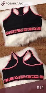 Under Armour Sports Bra Under Armour Pink Black Sports Bra