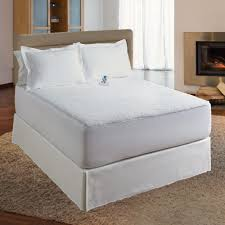 dual control heated mattress pad. Delighful Heated Serta Perfect Sleeper Sherpa Plush Heated Mattress Pad With Dual Control  Queen White With Control T