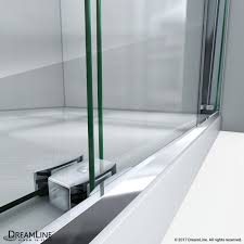 bypass shower door. Essence-H Frameless Bypass Shower Door