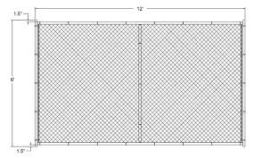 chain link fence post sizes. Perfect Sizes Remarkable Standard Chain Link Fence Post Sizes For Gate On