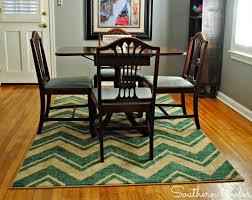 chevron area rug sizes for minimalist dining room decor