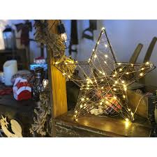 Led 3d Metall Weihnachtsstern 40cm