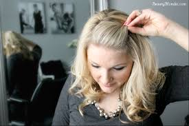 Twisted Hair Style side bang pin back poof using just 1 bobby pin video 6818 by wearticles.com