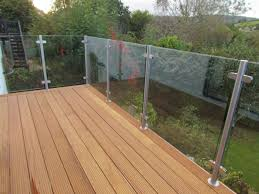 barade landing railing staircase any size 12mm toughened glass panels