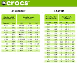 Croc Size Conversion Related Keywords Suggestions Croc