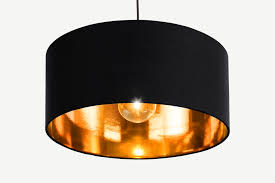 oro pendant drum lamp shade black and