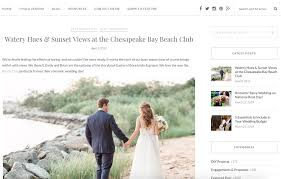 this chic chesapeake bay beach club wedding in stevensville md is featured on my eastern