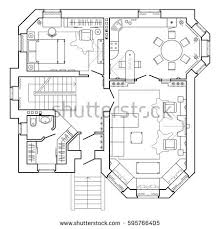 drawing furniture plans. black and white floor plan of a modern apartment detailed architectural vector blueprint standard drawing furniture plans s