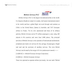 British Airways Organisational Chart British Airways Company Structure A Level Politics