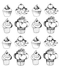 Small Picture cupcakes oldstyle Cup Cakes Coloring pages for adults JustColor