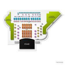The Rose Seating Chart Pasadena Hiroshima In Los Angeles Tickets Buy At Ticketcity