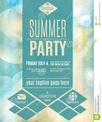 Summer Party Flyers Modern Style Summer Party Flyer Template Stock Vector Illustration